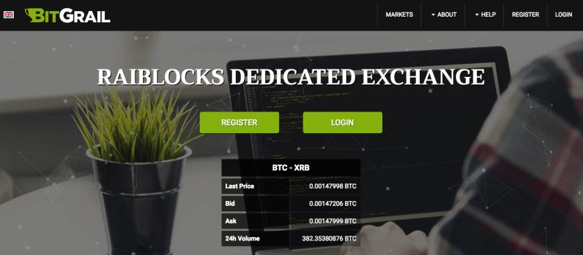 bitgrail exchange homepage