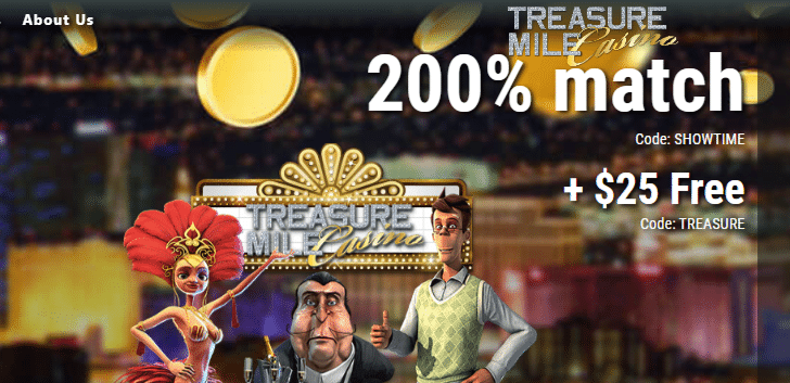 Get a $25 No Deposit Bonus at Treasure Mile Casino
