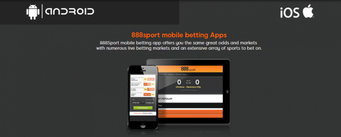 888sport is Available on iOS & Android Mobile Devices