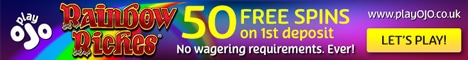 Get up to 50 Free Spins at PlayOJO Casino