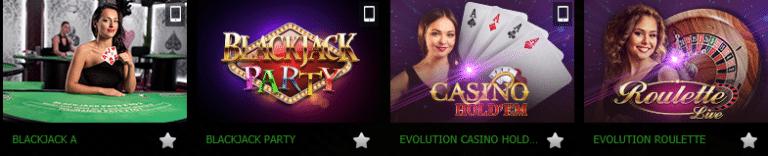 Bet90 Casino Live Dealer Games