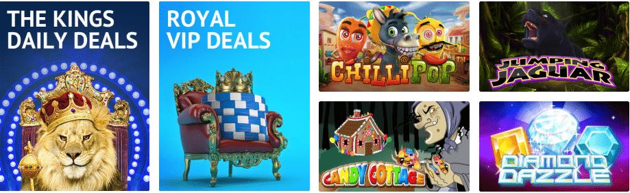 Deals & Games at lion Slots Casino