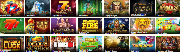 QueenPlay Casino Popular Slots