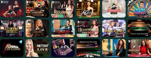 Live Dealer Games at MonteCryptos Casino
