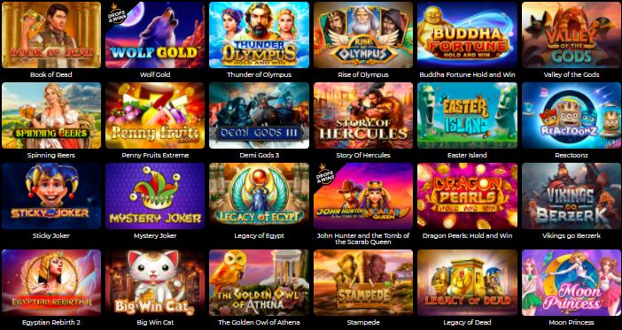 Popular Games at Fortune Clock Casino