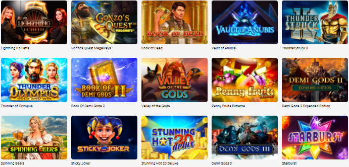 Popular Slottica Casino Games