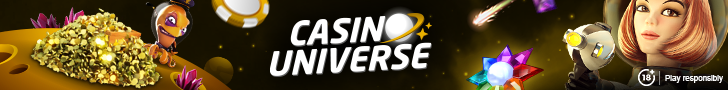 Get 500 Free Spins on your 1st deposit at Casino Universe