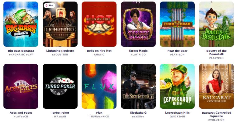 Popular Casiqo Casino Games
