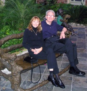 Patty and Russell Targ on a visit to Austin Texas in 2004
