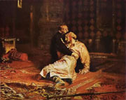 Painting by Repin - Ivan the Terrible killing his son