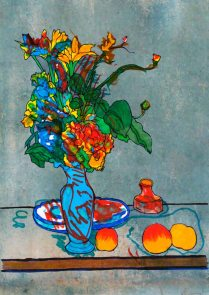 Il vaso blu-di Paul Cezanne 🍏 Ri-visto da Maria