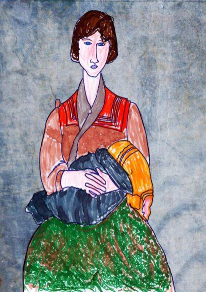 Zingara con bambino – di Amedeo Modigliani 🍏 Ri-visto da Caterina