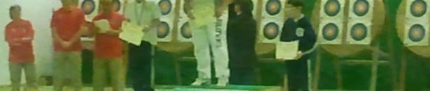 7.01.2012_Il podio della categoria ragazzi del XXXI Trofeo dell'arciere