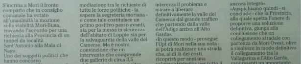 Ritorniamo sul collegamento Rovereto-Alto Garda