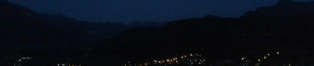 Panorama serale di Mori il primo giorno d'estate