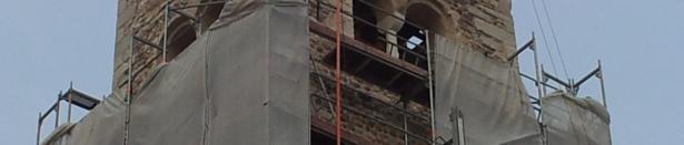 """A #Mori comincia a """"riaffiorare"""" il campanile della Chiesa di Santo Stefano: un vero colpo d'occhio!"""