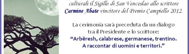 Carmine Abate riceve il sigillo di San Venceslao
