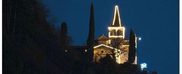 """Il """"Santuario di Montalbano sotto le stelle addobbato per il Natale"""" sul quotidiano TRENTINO di oggi"""