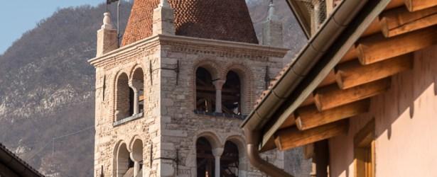 Campanile della Chiesa di Santo Stefano visto da via Modena a Mori