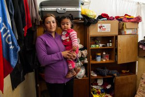 Mother and Child in Vrajdebna Refugee Centre
