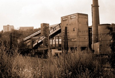 PhotoArt: Industrial Factory in Forrest