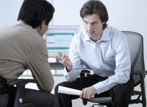 Business Discussion --- Image by © Royalty-Free/Corbis