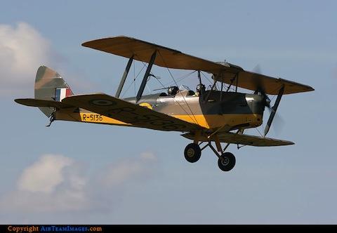 DeHavilland DH82A Tiger Moth. Photo by Philip Stevens. Courtesy of AirTeam Images.