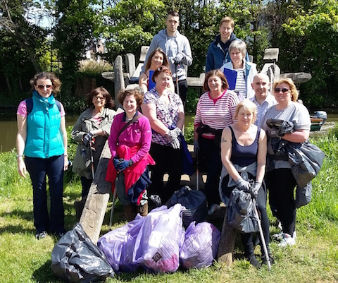 Local Marks & Spencer staff members volunteered to help do a litter pick along the Wey Navigation in Guildford as part of the national Big Beach and Waterways Clean-up event.