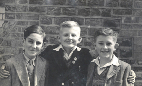 A young Dave Salmon (far left) during his schooldays.