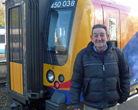 Dave Salmon at Ascot in 2009 while out photographing trains.