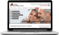 Financial Advisers Website in Guildford