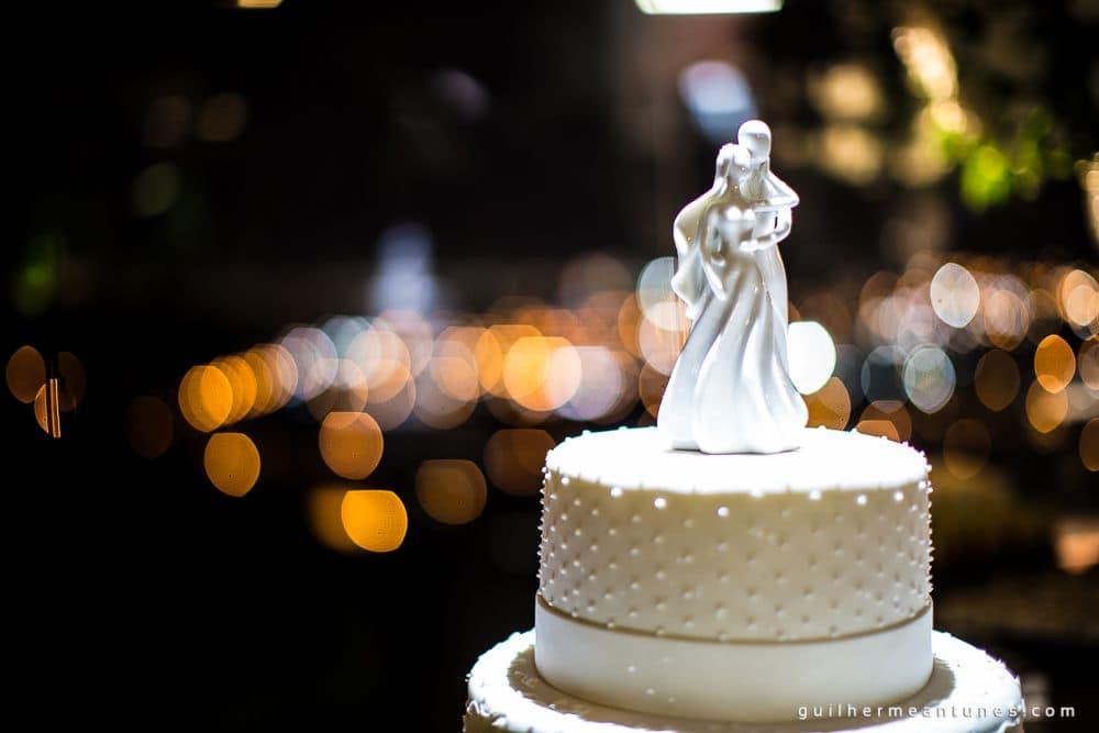 Fotografia de Casamento Luana e Alysson bolo de casamento