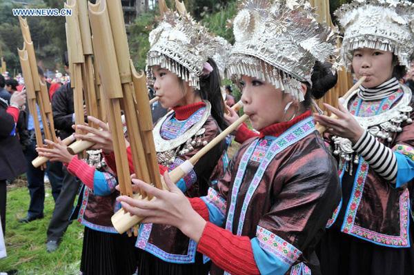 Lusheng performance, Sanjiang