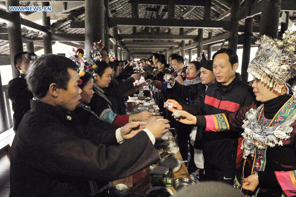 Hundred Families Banquet of Dong people, Sanjiang