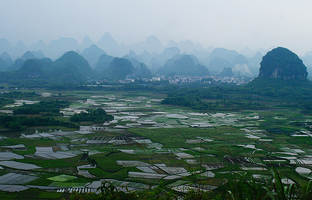 Beautiful Yangshuo countryside