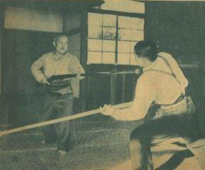 Morihei Ueshiba demonstrating Aikibudo in techniques
