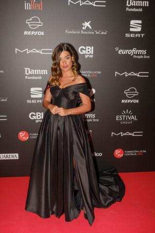 Aida Domenech (@dulceida) al photocall de la gala People in Red de la Fundació Lluita contra la Sida (Barcelona, 2018)