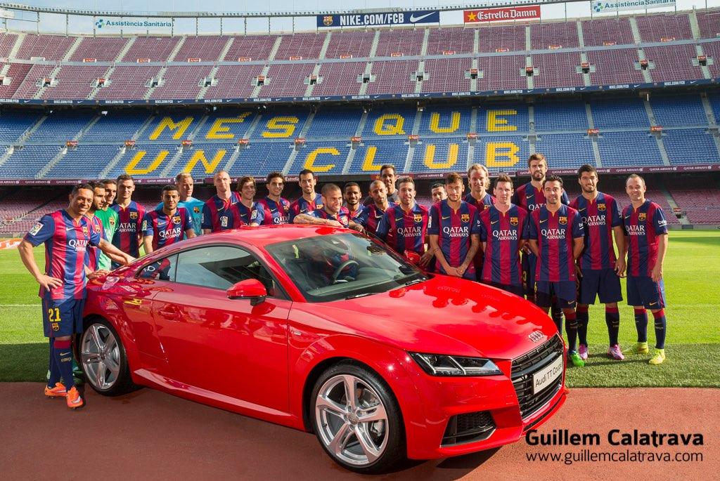 Plantilla FCB temporada 2014-2015 - Audi TT Coupé