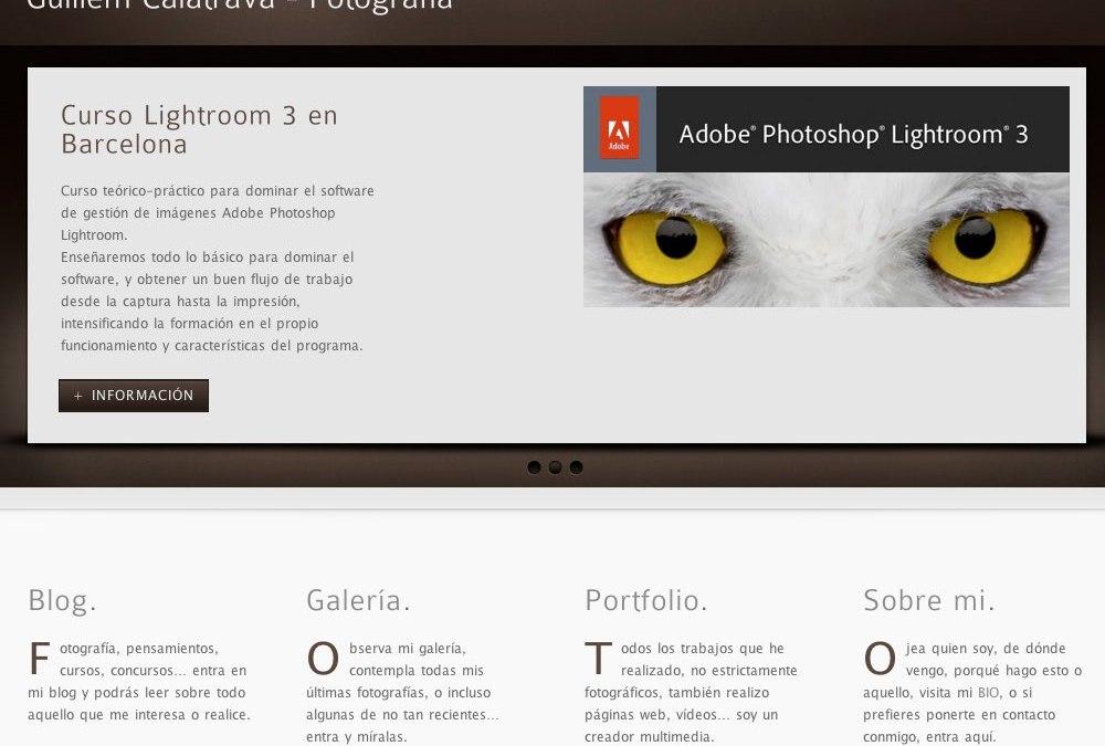 Nova web! Nueva web! guillemcalatrava.com