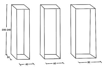 Dimensiones de los armarios