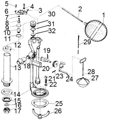 Kohler 30668 Flush Valve And Fill