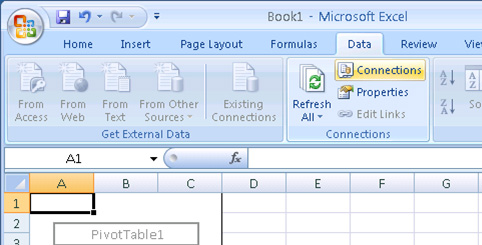 Botón Connections de Excel 2007