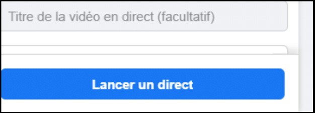 lancer un direct sur facebook