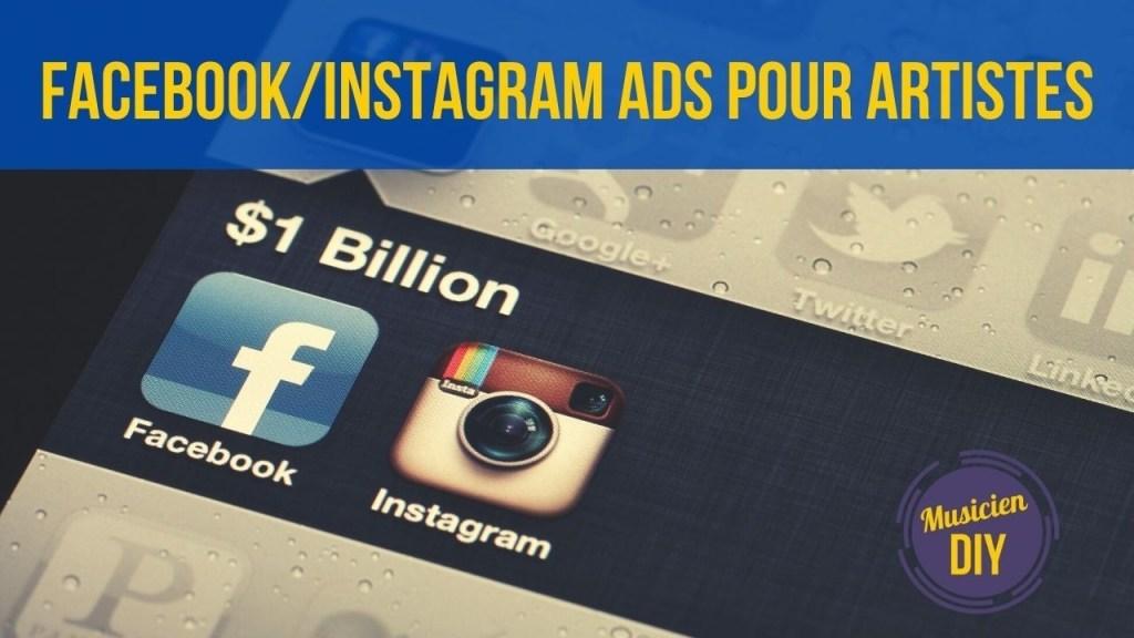 facebook instagram ads pour musicien