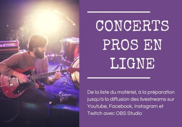 concert en ligne livestream