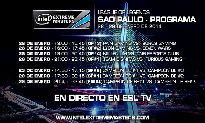 Intel Extreme Masters League of Legends horario