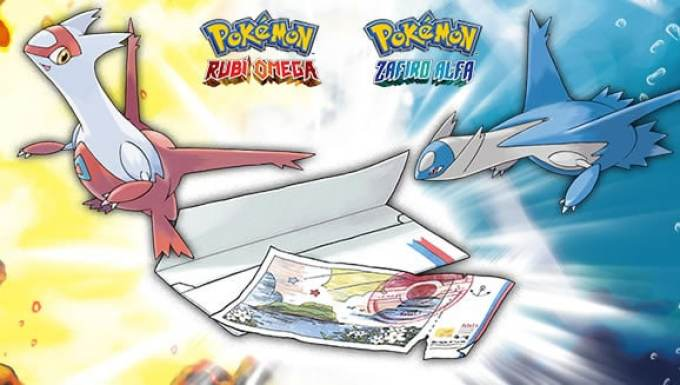pokemon rubi omega zafiro alfa ticket eon