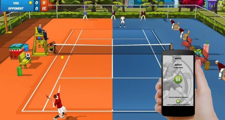 Motion Tennis Cast te deja usar tu móvil para jugar al tenis