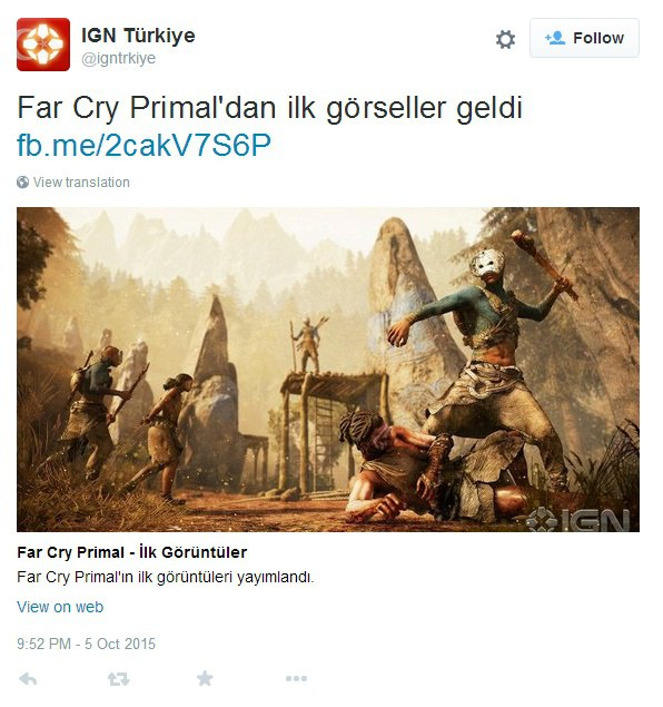 Far Cry Primal IGN Turquia