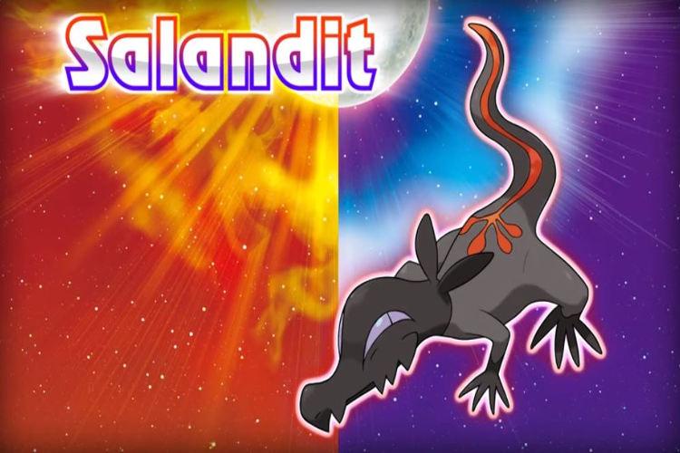 pokemon nuevo sol luna salandit